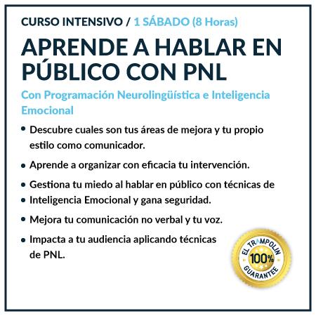 CURSO APRENDE A HABLAR EN PUBLICO CON PNL 8 HS